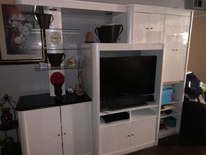 White TV Entertainment Stand for Sale in Denver, CO