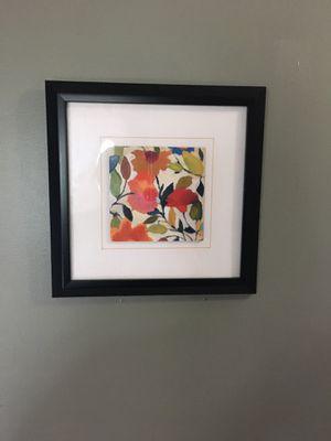 (2) framed floral wall art for Sale in Lancaster, KY