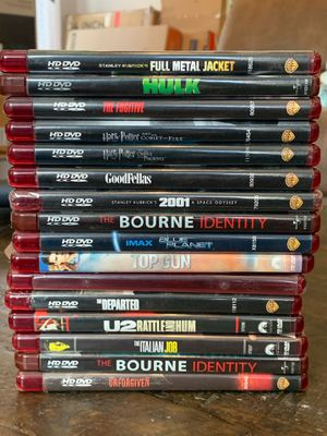 48 HD DVDs for $50. Must buy all. Pick up from Livermore. for Sale in Hayward, CA