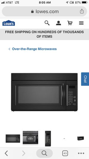 1.6 CU FT over range microwave for Sale in Baltimore, MD