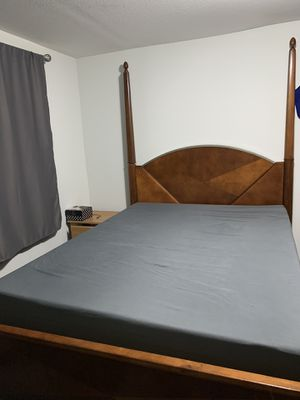 Queen bed frame and box spring for Sale in Seattle, WA