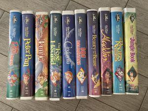 Black Diamond Disney VHS Movies Set of 10 for Sale in Scottsdale, AZ