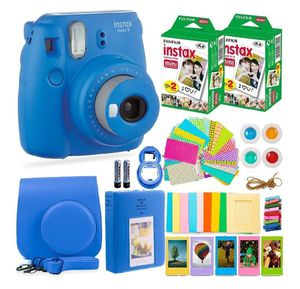 FujiFilm Instax Mini 9 Instant Camera + Fuji Instax Film (40 Sheets) + Accessories Bundle - Carrying Case, Color Filters, Photo Album, Selfie Lens for Sale in Garden Grove, CA