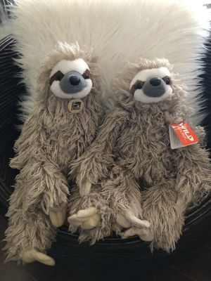 2 Brand New Sloth Plushies With Tags for Sale in Simi Valley, CA