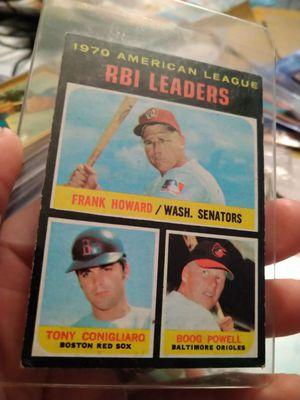 1971 Topps League Leaders A. L RBI Frank Howard Tony Conigliaro Boog Powell #63 Baseball Card for Sale in Port Richey, FL