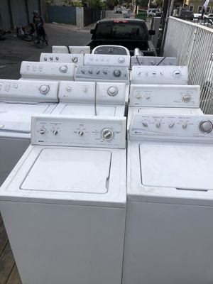 Washer and gas dryer or electric $150 each come with 90 days warranty for Sale in Pasadena, CA