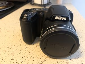 Nikon Coolpix L810 w/ travel backpack & tripod for Sale in Colorado Springs, CO