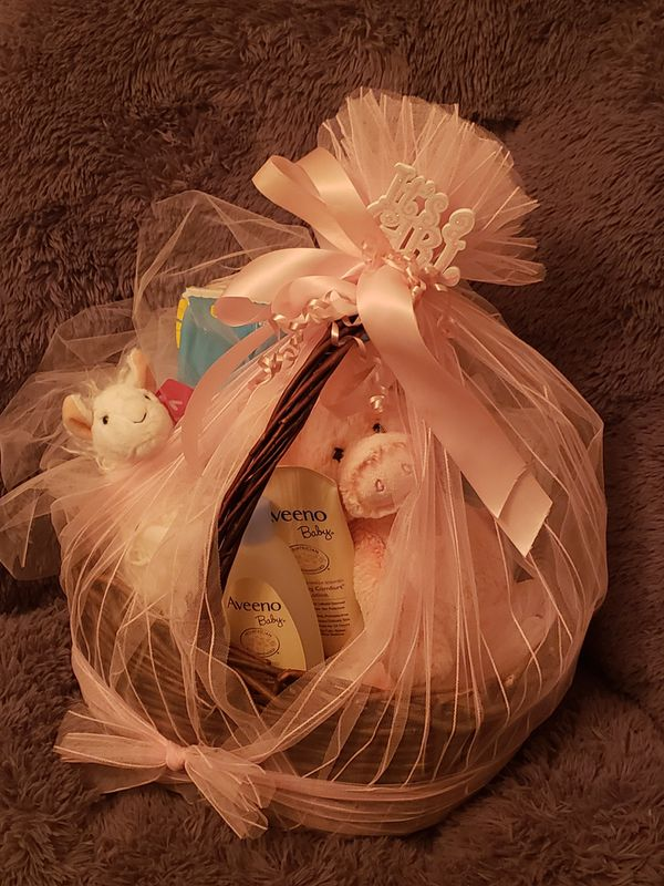 Beautiful Welcome basket for a baby girl