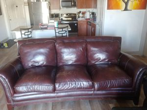 FREE Leather Couch and Oversized Chair for Sale in Aurora, CO