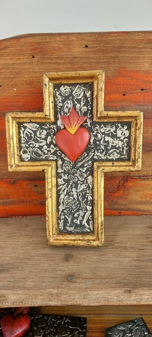 Milagros Cross with gold leaf for Sale in Santa Ana, CA