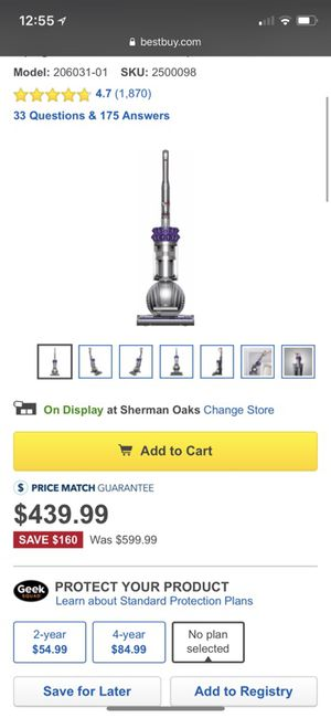 Dyson - Cinetic Big Ball Animal Bagless Upright Vacuum - Iron/Purple for Sale in Los Angeles, CA