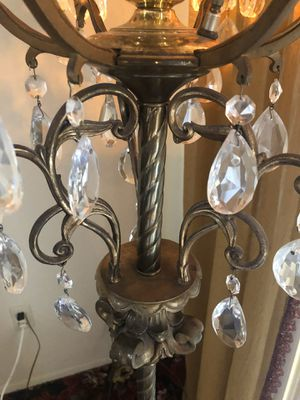 Vintage lamp cristal glass and marble for Sale in Tucson, AZ