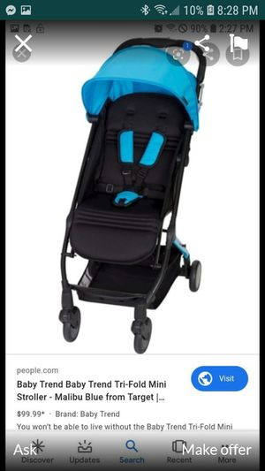 Baby trend stroller blue for Sale in Minneapolis, MN