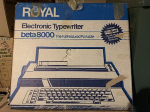 Old school electronic typewriter like brand new in box , used only a couple of times . for Sale in Columbia, MO