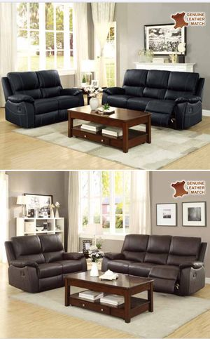 TOP GRAIN LEATHER WITH RECLINING SOFA AND LOVE SEAT WITH RECLINERS ON SALE $1859 for Sale in Lake Wales, FL