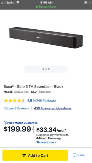 Bose solo 5 Bluetooth soundbar for Sale in Brentwood, CA