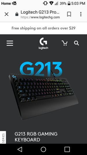 Logitech gaming keyboard for Sale in Portsmouth, OH