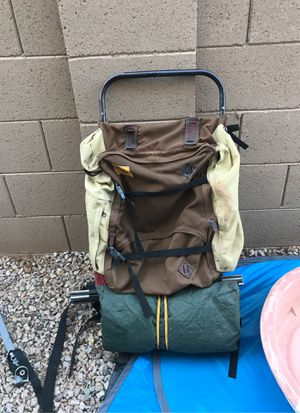 Hiking backpack with tent for Sale in Mesa, AZ