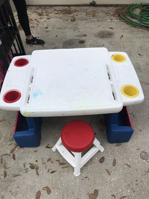 Kids desk with chairs for Sale in Plant City, FL