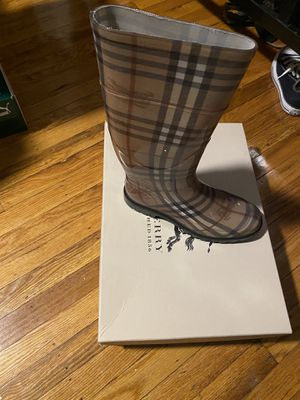 Authentic Burberry rain boots for Sale in Philadelphia, PA
