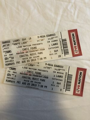 (2) Chris Young Tickets for Sale in Raleigh, NC