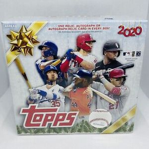 2020 Topps Baseball Holiday Mega Box Auto Or Relic Per Box Sealed In Hand for Sale in Oswego, IL