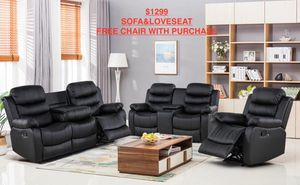 Sofa and love seat + free chair with purchase for Sale in Country Club Hills, IL