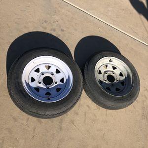 2 12 Inch Trailer Wheels for Sale in Gilbert, AZ