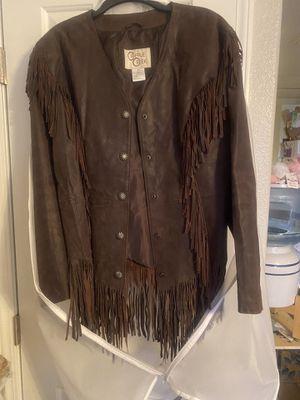 Brown Cripple Creek brand suede jacket. for Sale in Las Vegas, NV