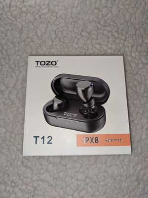 TOZO T12 Wireless Earbuds Bluetooth Headphones LED Display IPX8 Waterproof NIB for Sale in Richmond, VA