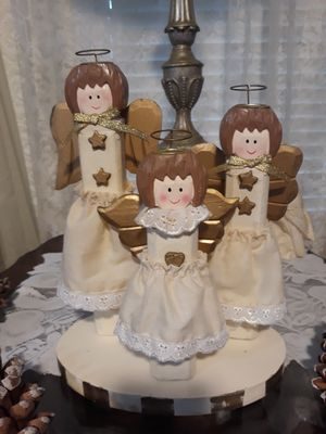 One piece 3 angels candlestick holders for Sale in Fairless Hills, PA