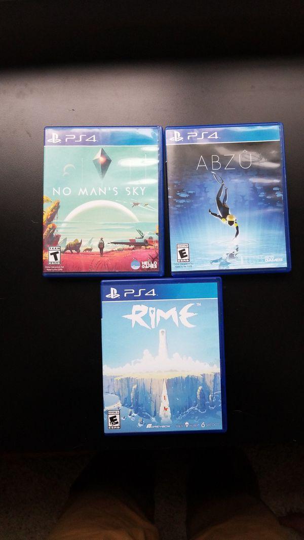 ABZU, RIME, NO MAN SKY PS4 games