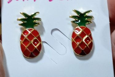 Red Pineapple Studs New On Card By Betsey Johnson for Sale in Punta Gorda,  FL