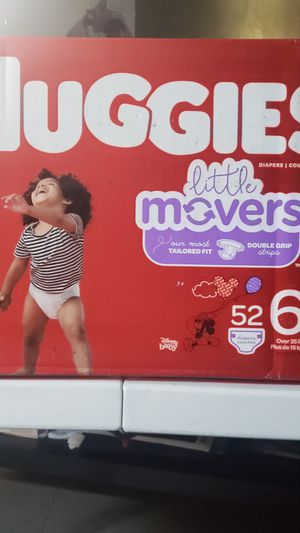Huggies little movers size 6 56 count for Sale in Sunnyvale, CA