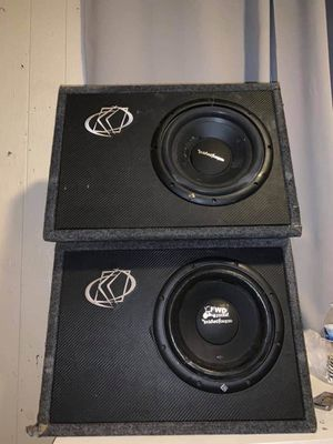 2 10 inch Rockford Fosgate subwoofers with kicker boxes for Sale in West Valley City, UT