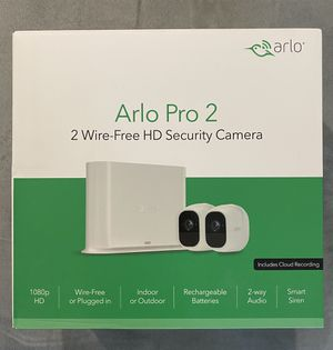 Arlo Pro 2 - Wireless Home Security Camera System with Siren | Rechargeable, Night vision, Indoor/Outdoor, 1080p, 2-Way Audio, Wall Mount | Cloud Sto for Sale in Los Angeles, CA