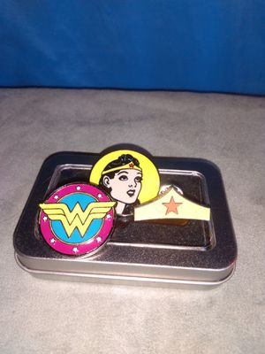 Wonder Woman Enamel Pin Set With Tin By Culture Fly for Sale in Athens, AL