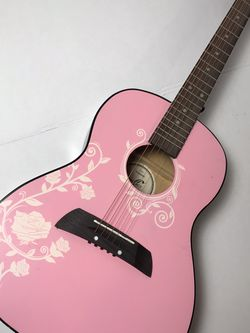First Act Acoustic Quitar (Pink And White Floral Design) No Case for Sale in Trenton,  NJ