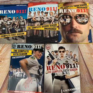 Reno 911 Dvd Box Sets Complete Seasons 1,2,3,5,6 for Sale in Ridgefield, WA