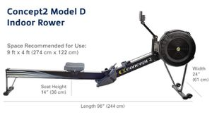 Concept2 Model D Indoor Rowing Machine with PM5 Performance Monitor for Sale in Silver Spring, MD