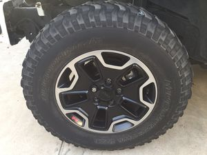 Jeep Rubicon wheels/tires for Sale in Reedley, CA