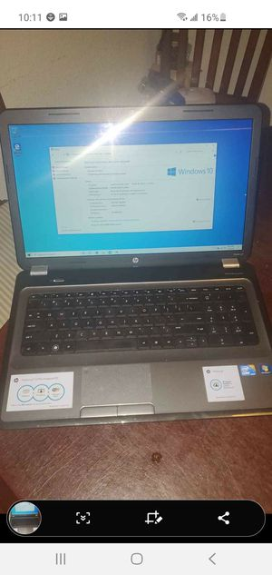 "Hp Pavillion G7-1070us 4 gb ram i3 cpu 2.53ghz 17.3 ""lcd wifi camera fresh win 10 installed for Sale in San Antonio, TX"