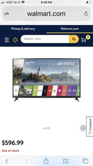 LG 55 inch smart tv with stand and remote for Sale in Gilbert, AZ