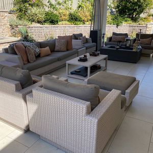Patio Furniture Set Includes 14 Pieces for Sale in Chino Hills, CA