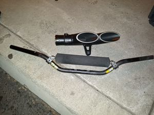 Street bike exhaust and handle bars for Sale in Red Bluff, CA
