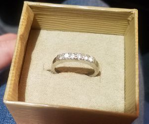 Sterling Silver Cubic Zirconia Ring size 10 Rhodium Finish for Sale in Phoenix, AZ
