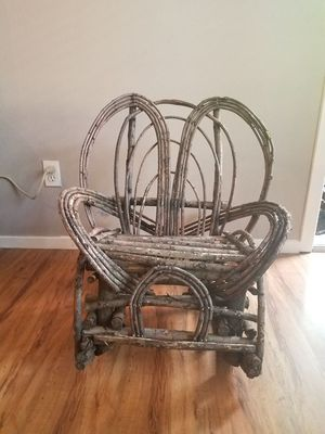 Antique willow rocking chair for kids for Sale in Portland, OR