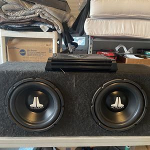 JL 10 Inch Subwoofers And kicker ZX500.1 Amplifier for Sale in San Diego, CA