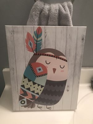 Owl canvas wall art for Sale in Westminster, CA