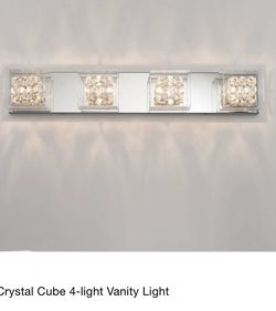 Crystal Cube Vanity Light Fixture for Sale in Monroe,  WA